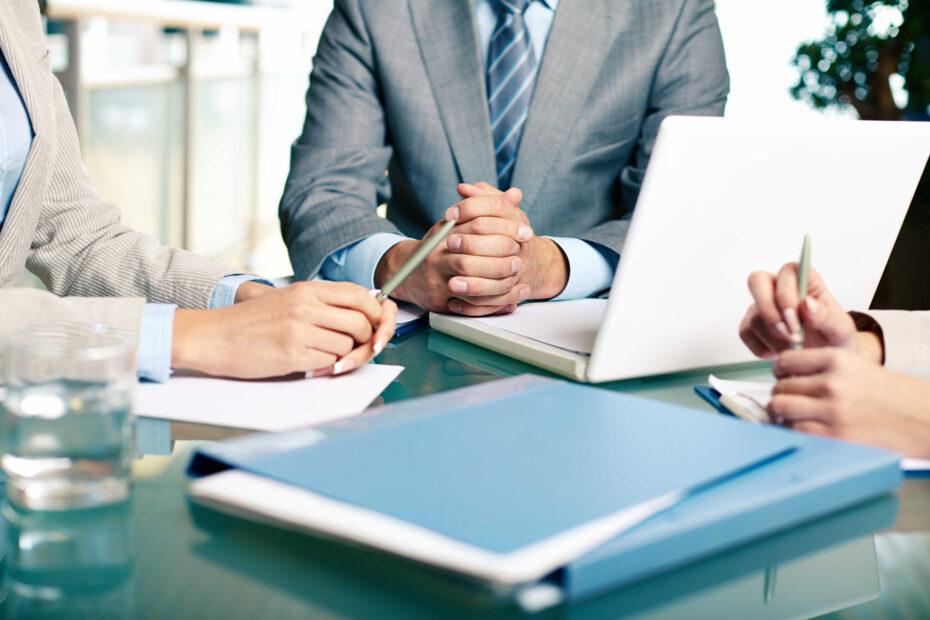 close up executives sitting table optimized